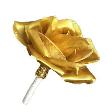 Boutonniere - Metallic Gold Rose Boutonniere - Artificial Flowers