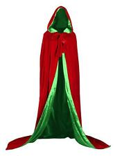 "Renaissance Medieval Cloak Cape Wedding Wicca LOTR LARP 67"" Lined Green Velvet.."