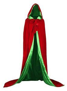 "Renaissance Medieval Cloak Cape Wedding Wicca LOTR LARP 67"" Lined Green Velvet"