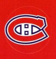 """(HCW) Montreal Canadiens Lot of 10 NHL Logo Stickers - 1"""" Round x 10"""