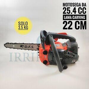 Motosega potatura carving moto sega a scoppio lama 22 cm 25.4 cc barra da pota