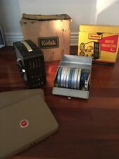 Vintage Kodak Brownie Movie Film Projector 8mm # 196 & Logan Deluxe Film Chest
