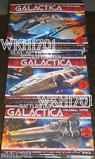 Battlestar GALACTICA, COLONIAL VIPER & CYLON RAIDER 3 Moebius Model Kits + Bonus