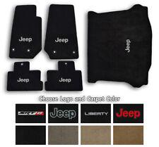 Jeep Liberty Ultimats Carpet 5pc Floor Mat Set - Choose Color & Logo