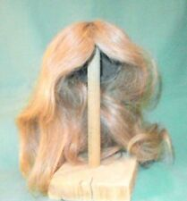 "doll wig/ human hair 12.5"" to 13.5"" blond, shoulderlength to long/Glorex"