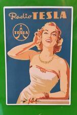 """/""""RADIO TESLA/"""" Sticker Decal ART DECO RETRO ADVERT NOSTALGIA"""