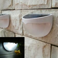 Outdoor Garden Solar Power Fence Light Gutter Yard LED Lamp Wall Roof Pure White