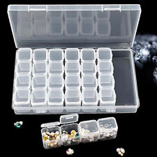 Plastic 28 Slots Adjustable Jewelry Storage Box Case Craft Organizer Beads