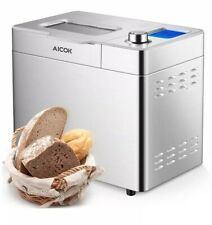 Aicok Stainless Steel 2Lb 25-in-1 Programmable Xl Bread Machine Large Lcd Screen