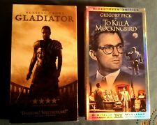 2 - Vhs 'To Kill a Mockingbird' and 'Gladiator' - Ex Cond
