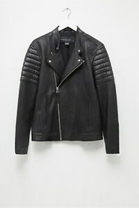 ~$600 NWT French Connection FCUK Bleeker s SMALL Leather Biker Motorcycle Jacket