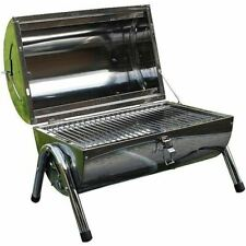 PORTABLE BARREL STAINLESS STEEL BBQ GARDEN CAMPING PICNIC CHARCOAL GRILL NEW