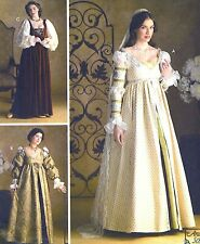 RARE! MISS RENAISSANCE WEDDING MAIDEN COSTUME SEWING PATTERN 4-8 Simplicity 3812