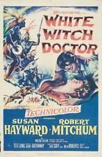 WHITE WITCH DOCTOR Movie POSTER 27x40 B Susan Hayward Robert Mitchum Walter