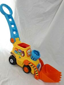 VTECH push and pop bulldozer/ walker & musical toys Working / include 1 one ball