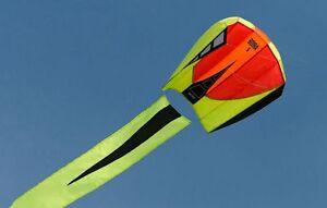 "Kite Bora 5 Blaze 40"" Single Line Parafoil Polyester Kite 18 Prism-   82547"