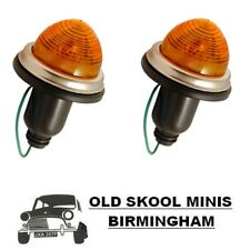 CLASSIC MINI FRONT INDICATOR COMPLETE UNIT PAIR 1959-86 CHM13 AMBER PLASTIC 4K2