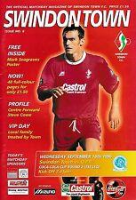 Football Programme>SWINDON TOWN v QPR Sept 1996 FLC