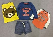 Boys Age 12-18 Month 1-1.5 years Summer Bundle Shorts T Shirts Top bottoms x4