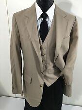 The Victorian House Men's 2Pc Vest Tan Sport Coat TROPICAL Jacket Blazer 38 L