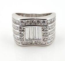 Real 925 Sterling Silver Round Baguette Cubic Zircon Fancy Men's Ring
