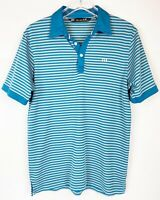 Travis Mathew Sz Small Mens Golf Shirt Polo Pima Cotton Stripes Short Sleeve EUC