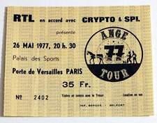 ANGE : ultra rare billet ticket concert FRANCE Paris 26/05/1977