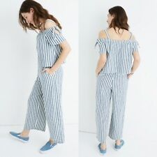 Madewell Striped Cold Shoulder Jumpsuit NO SIZE TAG SEE MEASUREMENTS