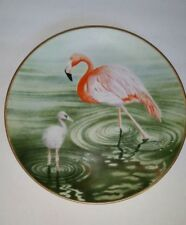 The Waterbird Plate by Danbury Mint Flamingo by Eric Tenney