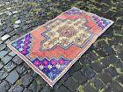 Turkish rug, Vintage rug, Handmade rug, Area rug, Wool, Carpet   2,5 x 4,3 ft