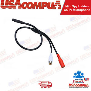 Mini Spy Hidden CCTV Microphone for Surveillance Audio DVR System CCTV Recorder