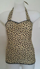 Rockabilly Halter top Leopard Print Sexy Pin-up Vintage size XL > LIMITED STOCK