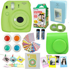 Fujifilm Instax Mini 9 Instant Camera Lime Green + 20 Film All in One Acc Bundle