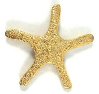 Brooch Sea Star Vintage Pin Sea Gold Tone Starfish Fish Goldtone Vtg Shape Ocean