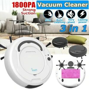 1800Pa Multifunctional Robot Vacuum Cleaner , 3-In-1 Auto Rechargeable Smart Swe