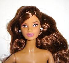 Nude Barbie Long Curly Brunette Model Muse Barbie Doll bn361