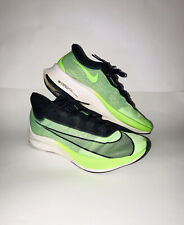 Nike Zoom Fly 3 Electric Green & Black Vaporweave  Running Shoes Size 10.5 Mens