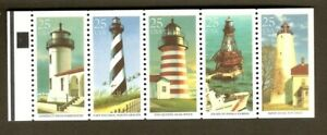 2474a LIGHTHOUSES Unfolded booklet pane
