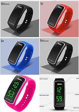 Sportliche rechteckige Unisex Armbanduhren aus Silikon/Gummi