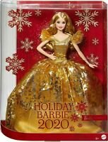 2020 Holiday Signature Barbie Doll with Blonde Hair Mattel - In Stock!