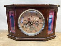 Vintage 1950's Chairman Mao Communist China Mantle Alarm Clock