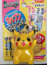 Tomy Takara Pokemon Monster Collection - Picachu coin bank game key chain