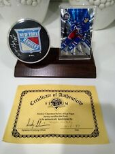 Wayne Gretzky Hockey Card and Hand Signed Puck With Certificate of Authenticity