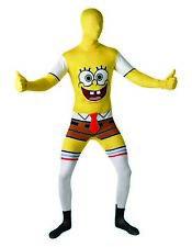 Spongebob Squarepants 2Nd Skin Mens Cartoon Fancy Dress Costume Lycra