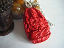 Spiritual Inspirational Wellness Necklace Stunning Buddha Carved Large Pendant