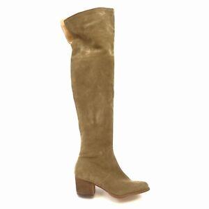 Corso Como Womens Hoboken Over the Knee Beige Suede Boots Size US 7 M EU 38