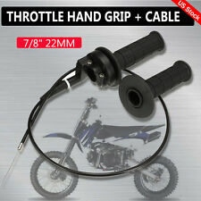 "7/8"" TWIST THROTTLE HAND GRIP + CABLE FIT ATV QUAD PIT DIRT BIKE 50 CC TO 190 CC"