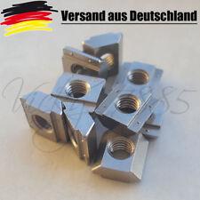 10x Nutensteine Nut 6 Profile mit Steg 1.4401, Schrauben M5, NEU Drucker L0004