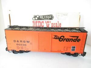 MDC - G SCALE TRAINS-  RIO GRANDE BOXCAR - LN - HB1