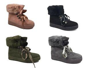 Footwear Sale Women's Winter Ankle Boots Slip-On Warm Fur Comfort Shoes Size